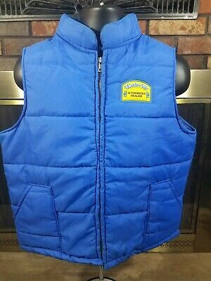 Vintage Cap n' Jac Full Zip Blue Electro Air Puffer Puffy Vest Mens Size Large