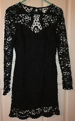 9a91ef0a34 NWOT SheIn Lace Overlay Sexy Backless Black Cocktail Dress Size Small