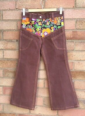 Vintage Retro Authentic 60's/70's Kids Clothes Age 3 Year Brown Trousers New