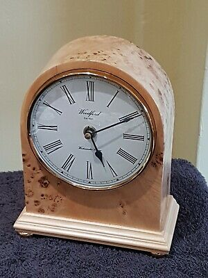 Beautiful Chiming Woodford England Walnut Mantle Clock Perfect Working Order