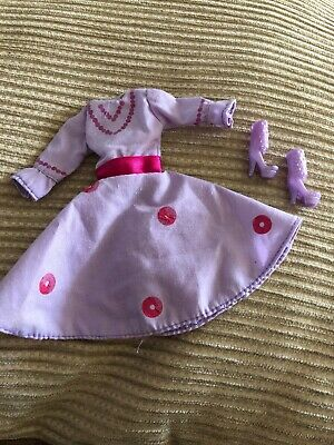 To Suit Barbie Doll Clothes Lilac Dress With Matching Shoes