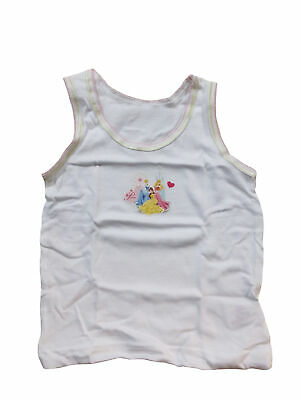 Girls Disney Princess Vests Underwear 3 Pack (18-24 Months) White