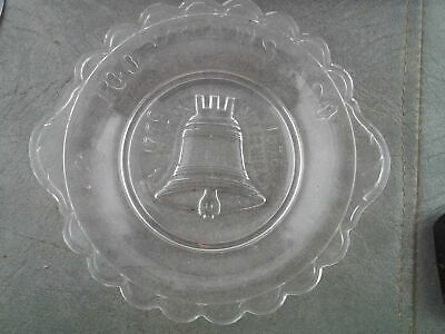 1776-1876 Liberty Bell Declaration of Independence Relish Dish Antique