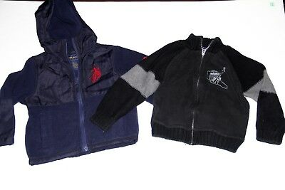 US Polo Assn  Boys Lot of size 2-3 T Hoodie  sweater  blue black navy