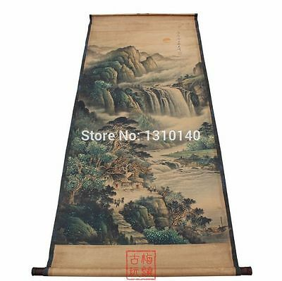 Chinese Antique painting landscape Zhang Daqian new landscape pattern Xuan paper