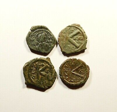 Ancient Byzantine Bronze Coin - LOT OF 4