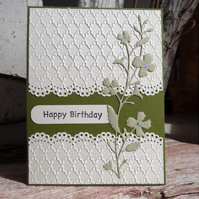 Cover Lace Design Metal Cutting Die For DIY Scrapbooking Album Paper Card Nuovo