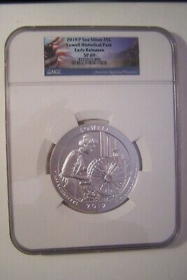 2019-P Lowell Historical Park 5 oz. Silver ATB NGC SP69 Early Release