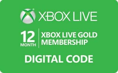 Xbox Live 12 Months Gold Digital Key (World wide) - Fast Delivery (Emailed)!!!!!