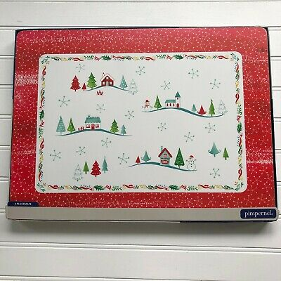 Portmeirion Pimpernel Christmas Wish Set of 4 Large Placemats New Open Box