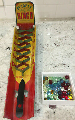 Vintage 30's-50's Wolverine Marble Bingo Toy Game (includes marbles)