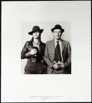 David Bowie & William Burroughs Poster Page . T18