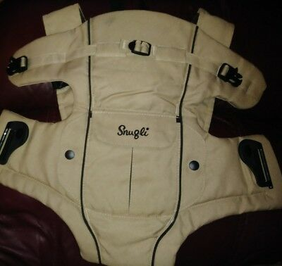 Pre-Owned Tan Snugli Baby Carrier Evenflo Infant front/back padded
