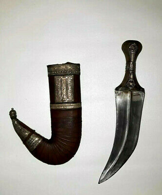 Persian Saudi Middle Eastern Knife Khanjar Yemen Dagger Jambiya Sheath Belt