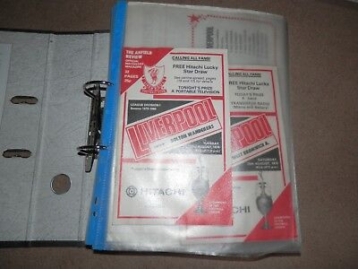 Lot Collection Liverpool FC Programmes 1979 1980 Season Complete 42 + 1 8 FA Cup