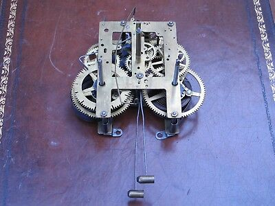 Antique Session Mantle Clock Movement Two Tone Chime
