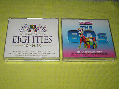The Ultimate Collection Eighties 100 Hits & Essential The 80s – 2 albums 8 CDs