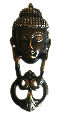 Auspicious Heavy brass divine Buddha face door knocker Antique finish from India