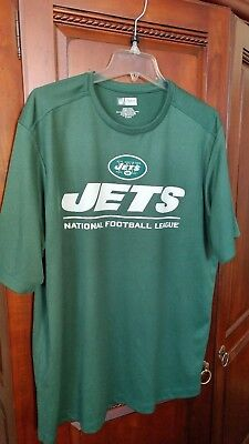 99ef0a626 NIKE NFL TEAM Apparel Dri Fit New York Jets Green Athletic Shirt ...