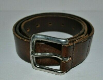 Structure Men's Genuine Italian Leather Brown Belt W36 Made in England