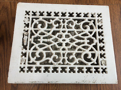 """Vintage Cast Iron Heat Grate 8""""x10"""" Tuttle And Bailey, Louvers"""