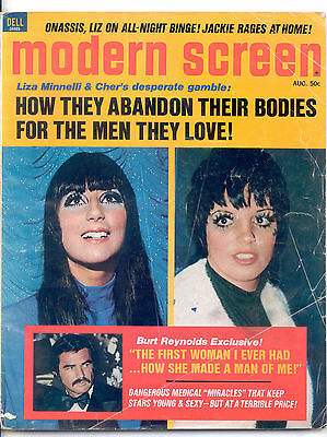 MODERN SCREEN  August 1972 (8/72) - Complete Issue