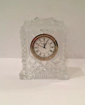 """Waterford Crystal Desk Clock (3.5 by 3 by 1.25"""") NWOT"""