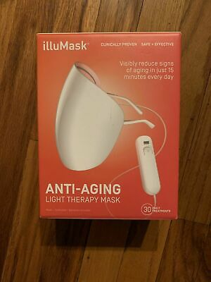 Illumask Anti-Aging Light Therapy Mask New & Sealed 30 Daily Treatment Wrinkle