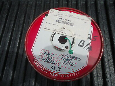 New Spool/Wire P/N 1447, 1000' Long. 22 Awg Pvc Stranded Green, 300V.