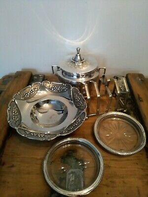 Quantity of Antique/ vintage silver plated items including 1930's Art Deco Toast