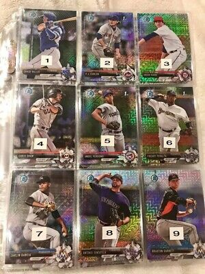 U Pick One 2017 or 2018 BOWMAN CHROME MOJO REFRACTOR Qty Available