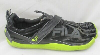 939c003e15 Fila Skele-Toes EZ Slide Barefoot Running Shoes MENS 10 M Black/Grn Hiking
