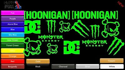 🔥12 PACK OFFER🔥Hoonigan Ken Block DC Monster Energy Door Window Sticker BWP181