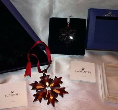 2 NEW Swarovski Crystal Ornaments Little + Red Snowflake 2018 5460487 5349843