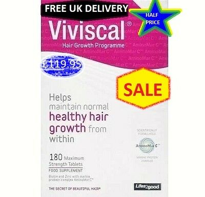 Viviscal Hair Growth Programme Maximum Strength 180 Tablets 3 Months Supply