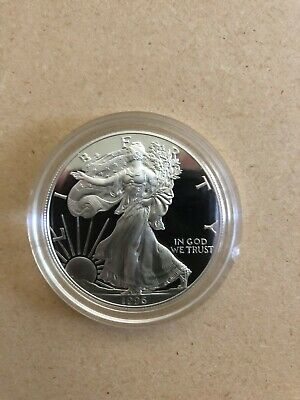 Proof 1996-P American Eagle Silver Dollar 1 oz .999 Silver With Box and COA