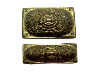 Lot Of Two Rare Post Medieval Silver Gilt Belt Mounts+++Top Condition+++