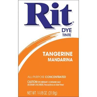 REDUCED * RIT FABRIC DYE Some powder has leaked still over 30g in pack TANGERINE