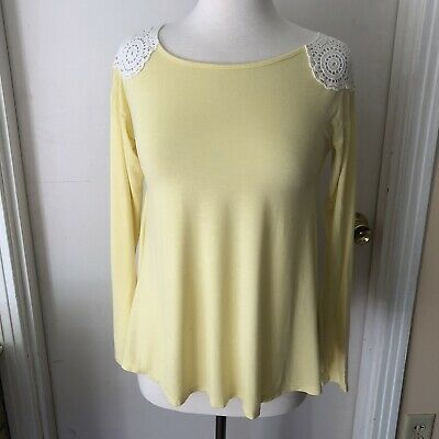 28240503224 NWT NURTURE YELLOW Embroidered Linen Tunic Top Blouse Shirt Size ...