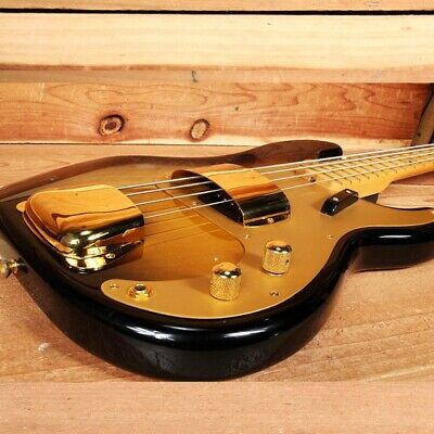 FENDER CLASSIC SERIES 50s PRECISION BASS Sunburst / Gold + Covers Nice! 41219