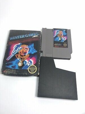 Winter Games (Nintendo Entertainment System, 1987) NES. Box. Tested Works