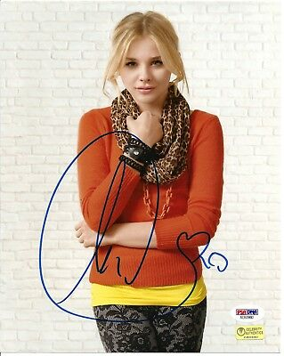 "Chloe Grace Moretz Signed 8X10 Photo #4  ""Hit Girl, Kick Ass"" Psa Dna Coa"