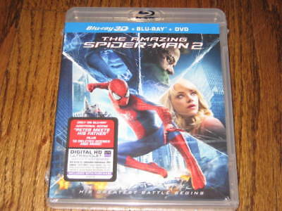 The Amazing Spiderman 2  3d  Blu Ray + Dvd  -Sealed  New!