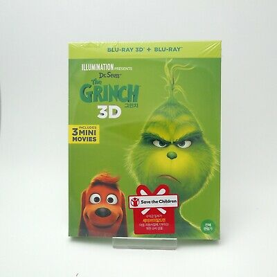The Grinch - Blu-ray 2D & 3D Combo Slip Case Edition (2019) w/ Character Cards