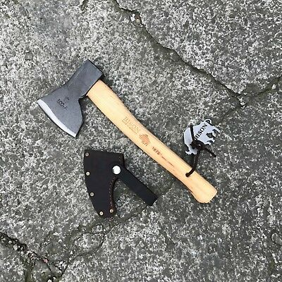 Bison 1879 Hand Forged Axe - 500g Hunters Splitter, Hatchet - Made in Germany