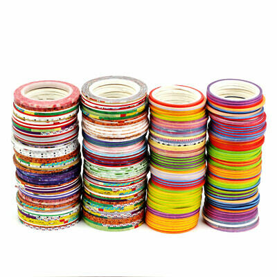 NEW Mix 10 PCS Cute Decor Slim Washi Tapes for Bujo Planner Border Lines 2mm×10M