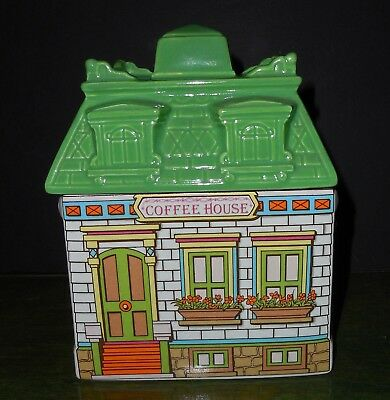Vintage NEW Avon Coffee House Townhouse Canister 5/""