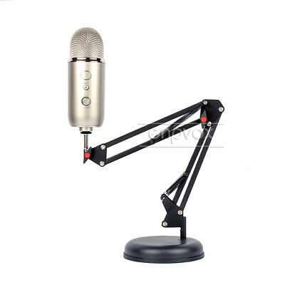 Desktop Suspension Microphone Boom Scissor Arm Stand Mount For Blue Yeti Pro Mic