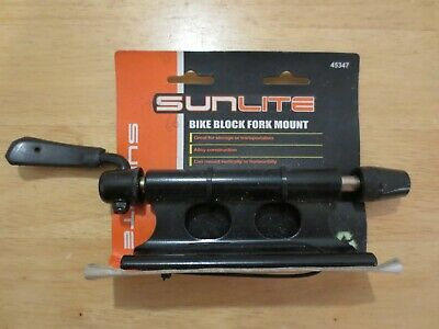 Sunlite Bike Block Heavy-Duty QR Alloy Fork Mount Holder Pickup Truck Bed Rack