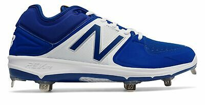 New Balance Low-Cut 3000v3 Metal Baseball Cleat Mens Shoes Blue with White Size